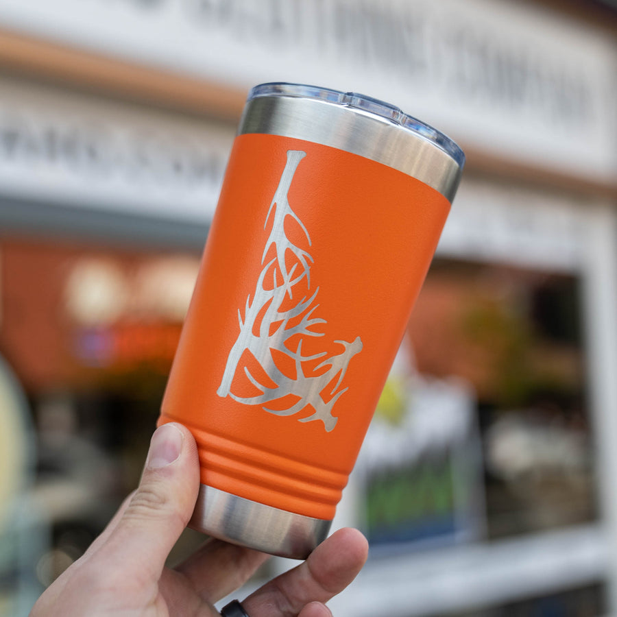 Orange Idaho Antler Insulated Pint