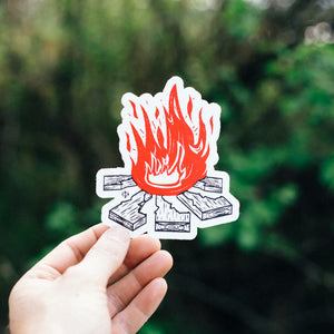 Idaho Campfire sticker