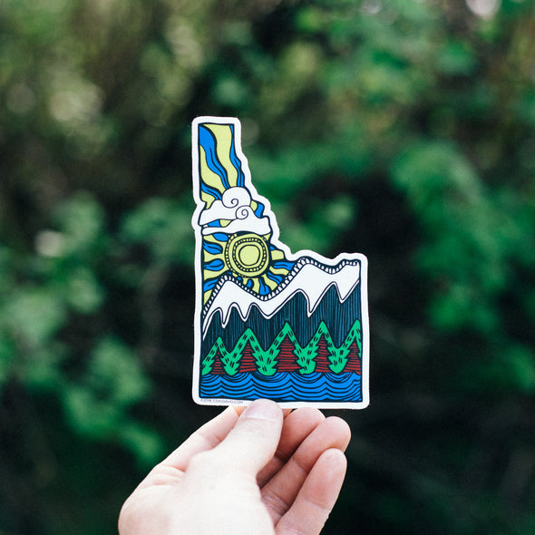 Idaho Viking Art Sticker