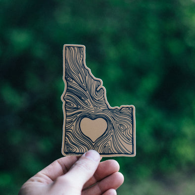 Idaho Wood State Sticker