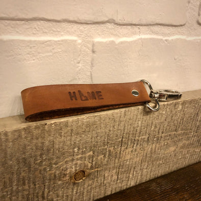 Idaho Home Leather Key Fob