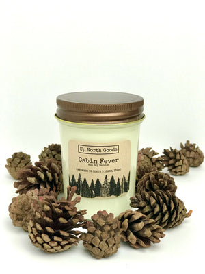 Cabin Fever 8oz Soy Candle by Up North Goods