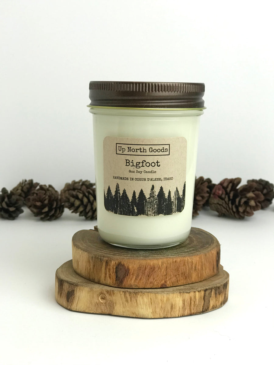 Bigfoot 8oz Soy Candle by Up North Goods