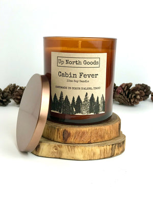 Cabin Fever 10oz Soy Candle by Up North Goods