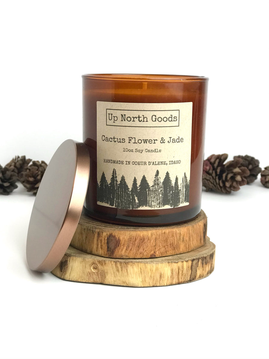 Cactus Flower & Jade 10oz Soy Candle by Up North Goods