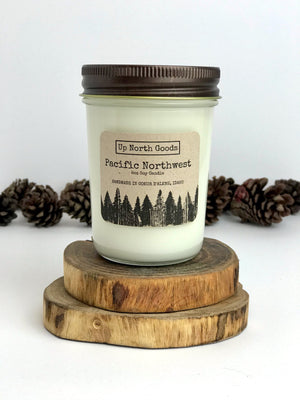 Pacific Northwest 8oz Soy Candle by Up North Goods