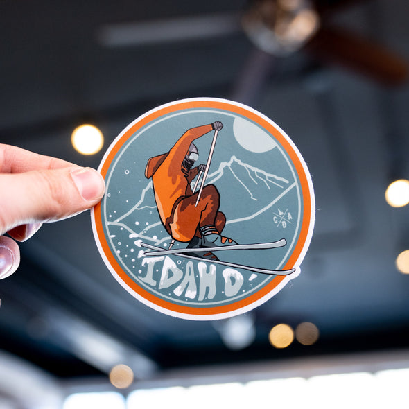 Idaho Skiing Sticker