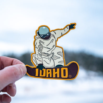 Idaho Snowboarder Sticker