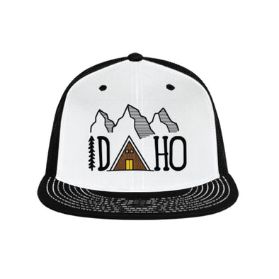 Idaho Cabin Flat Bill Trucker Hat