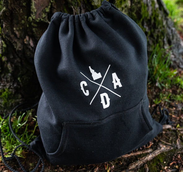 Jet Black Hoodie Cinch Pack