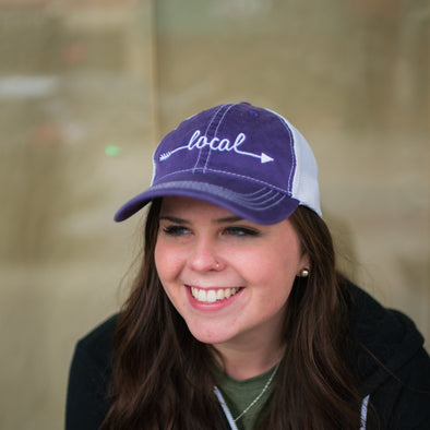 Local Vintage Purple Trucker Hat