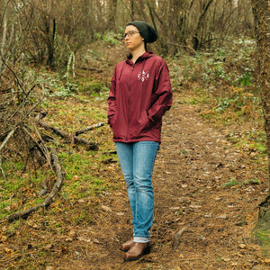 CDA IDAHO Maroon White Windbreaker