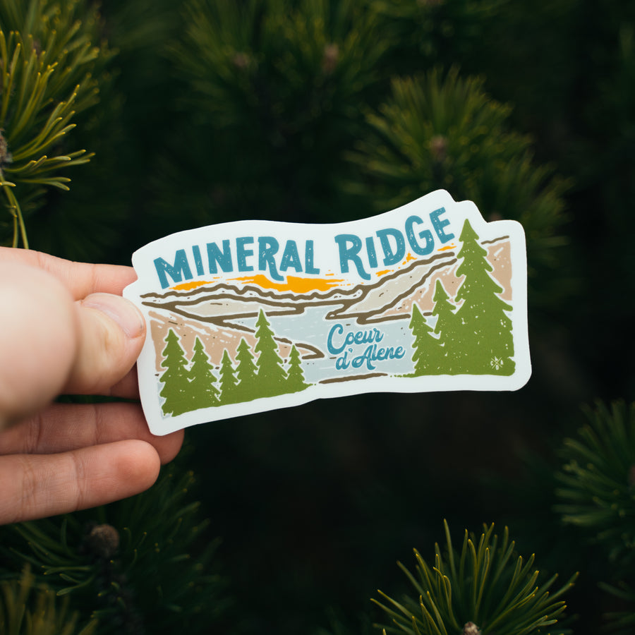 Mineral Ridge in Coeur d'Alene Idaho Sticker