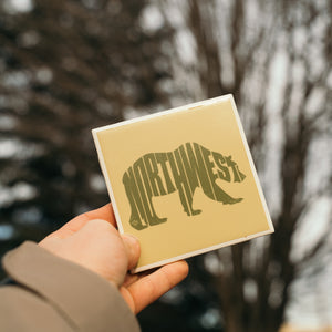 Northwest Bear Ceramic Coaster