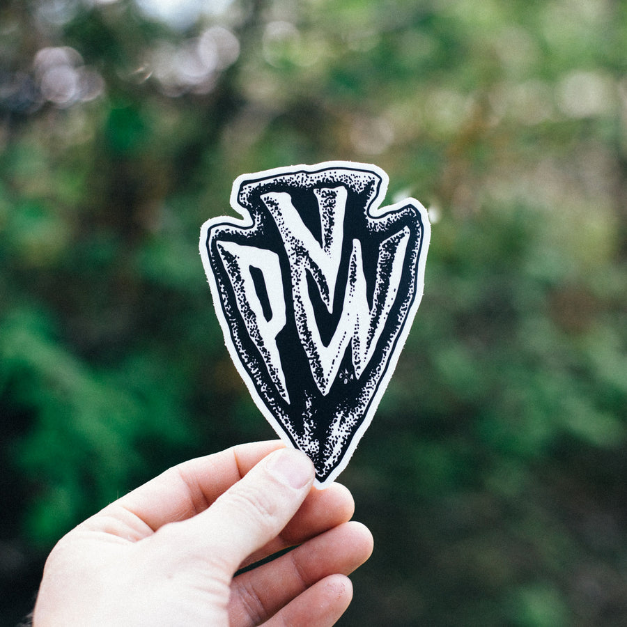 PNW Arrowhead Sticker