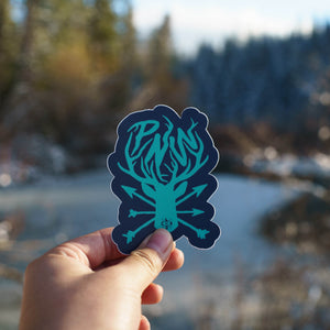 PNW Deer & Arrows Sticker