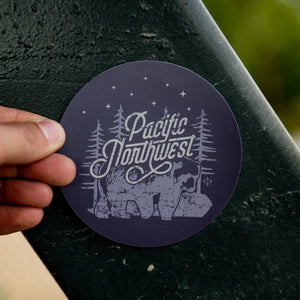 PNW Night Bear Sticker