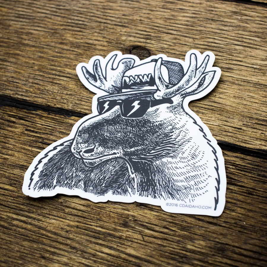 PNW Sunglasses Moose Sticker