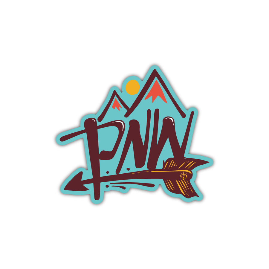 PNW Arrow Sticker