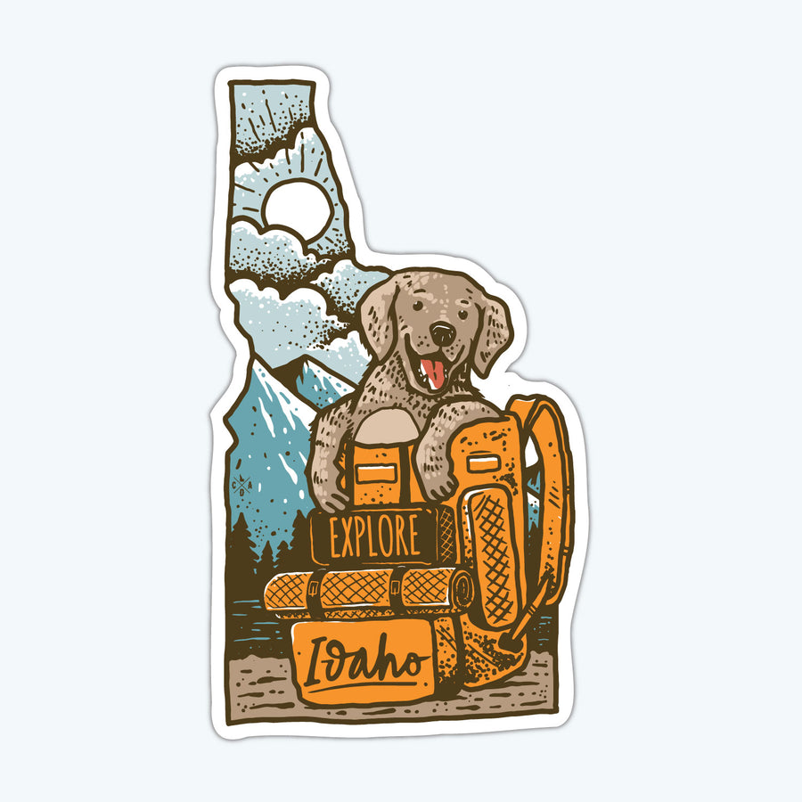 Idaho Explorer Puppy Sticker