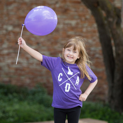Kids Purple CDA Logo Tee