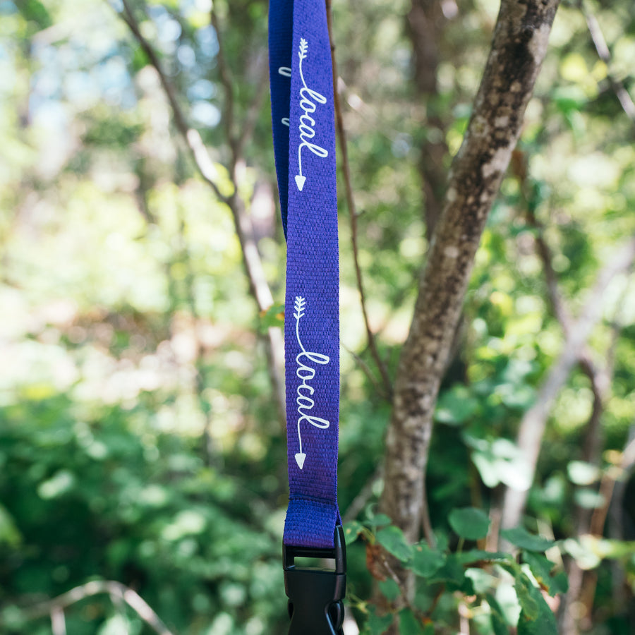 Purple Local Lanyard
