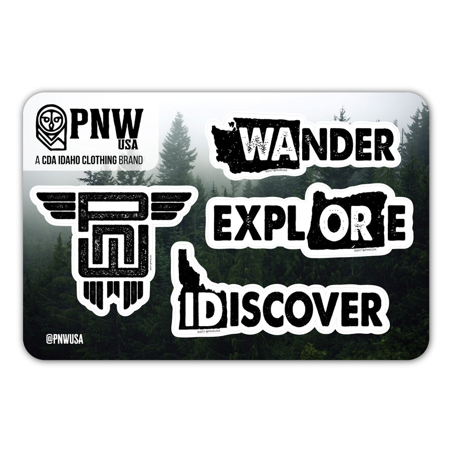 PNW Sticker Sheet