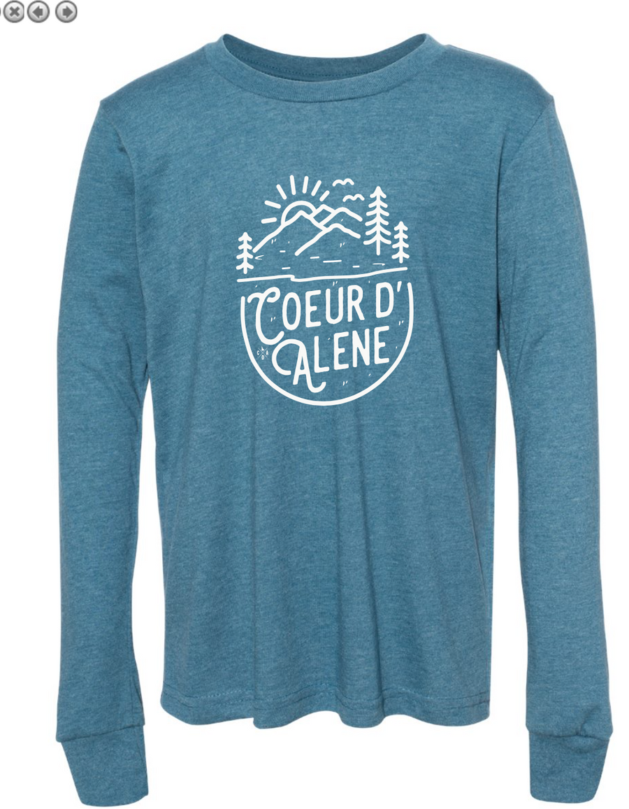 CDA In the Sand Deep Teal Youth Long Sleeve Tee
