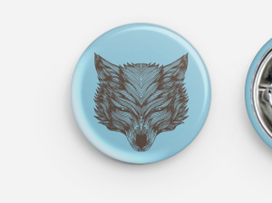 Symmetrical Wolf Button