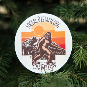 Social Distancing Champion Sticker (Bigfoot)