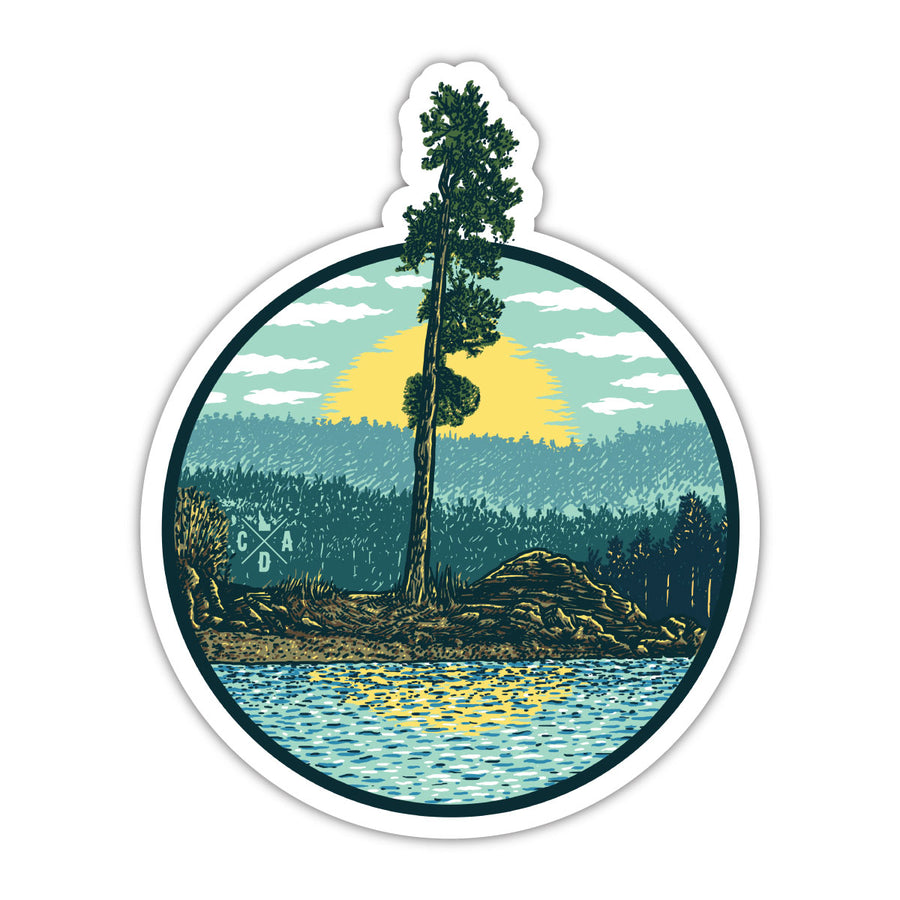Tubbs Hill Tree Sticker #3