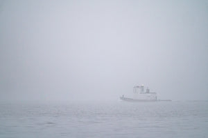 Tugboat In The Fog Postcard