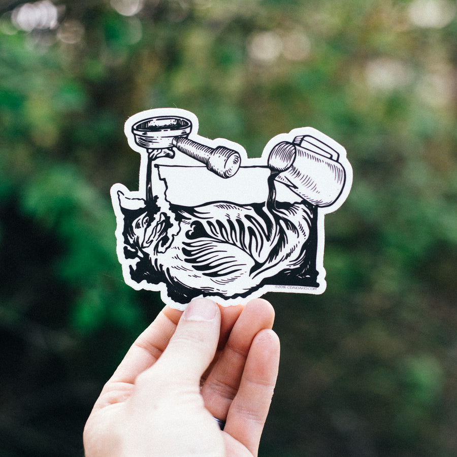 Washington Latte Art Sticker