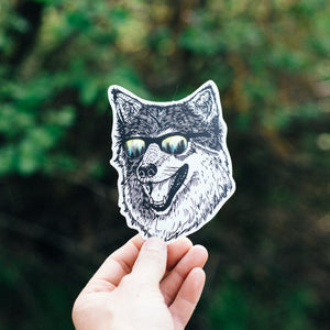 Wilderness Wolf Sticker