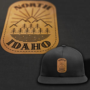 North Idaho Leather Patch Trucker Hat