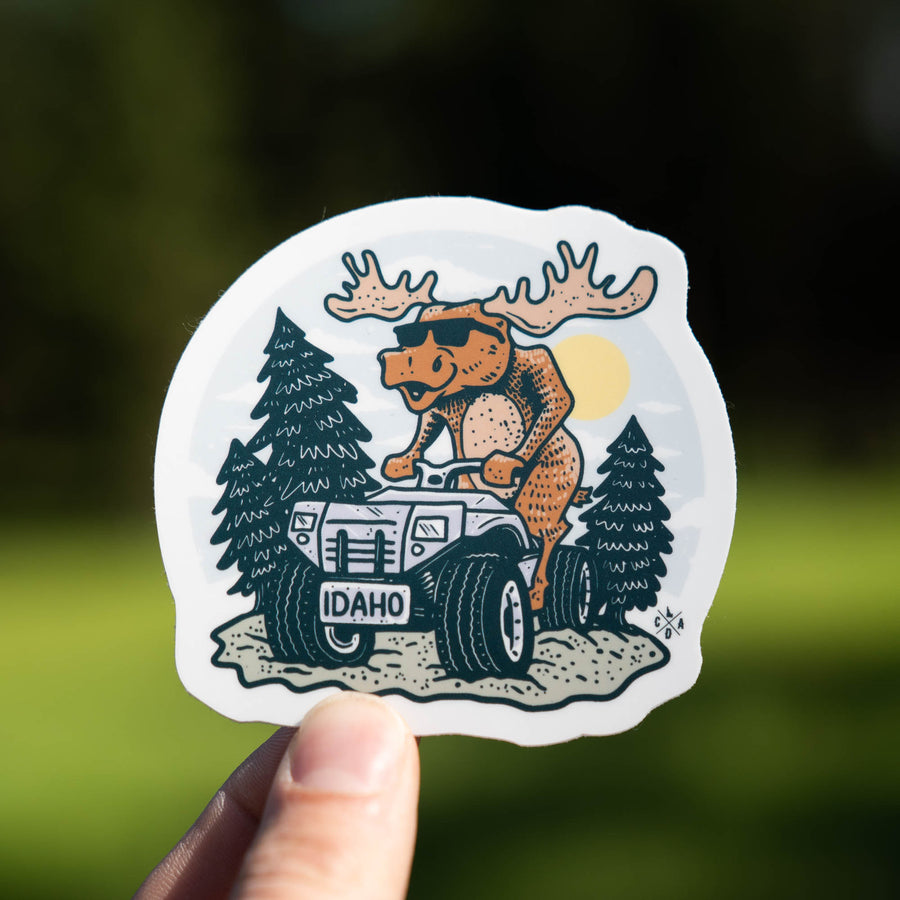 Idaho ATV Moose Sticker