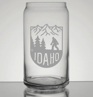 Bigfoot Idaho Mountains Pint Glass