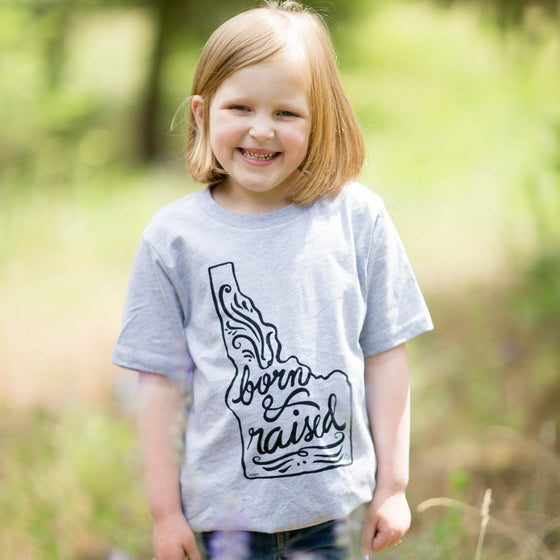 Kids Born & Raised Idaho Tee