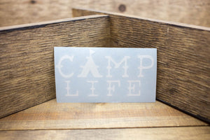 Camp Life Decal