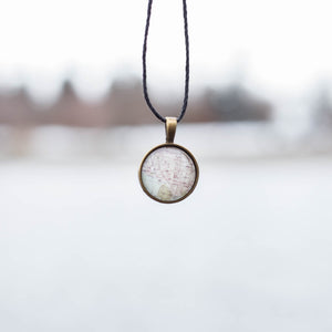 Coeur d'Alene Map Necklace