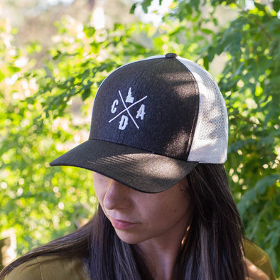 CDA IDAHO Logo Black Heather Trucker Hat