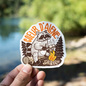 Coeur d'Alene Raccoon Sticker