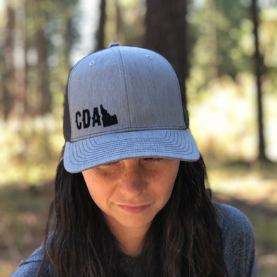 CDA State Gray Curved Bill Trucker Hat