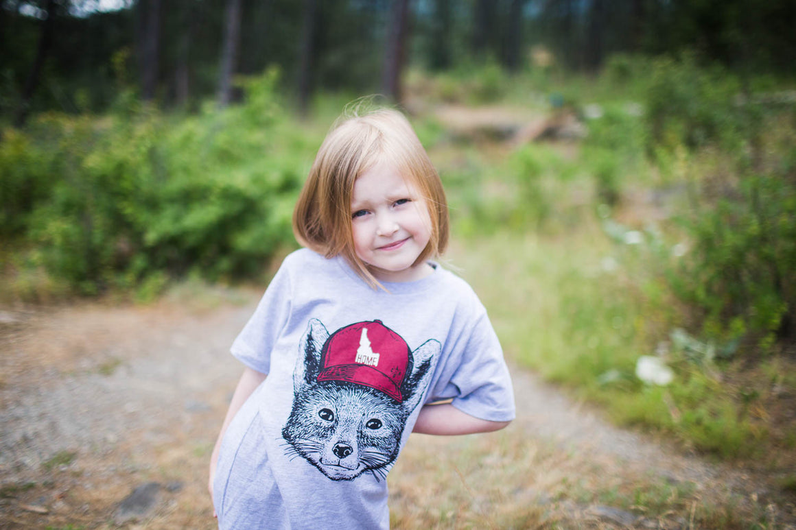 Kids Idaho Home Fox Tee