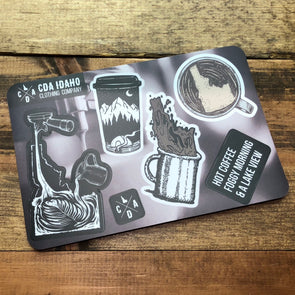 Idaho Coffee Essentials Sticker Sheet
