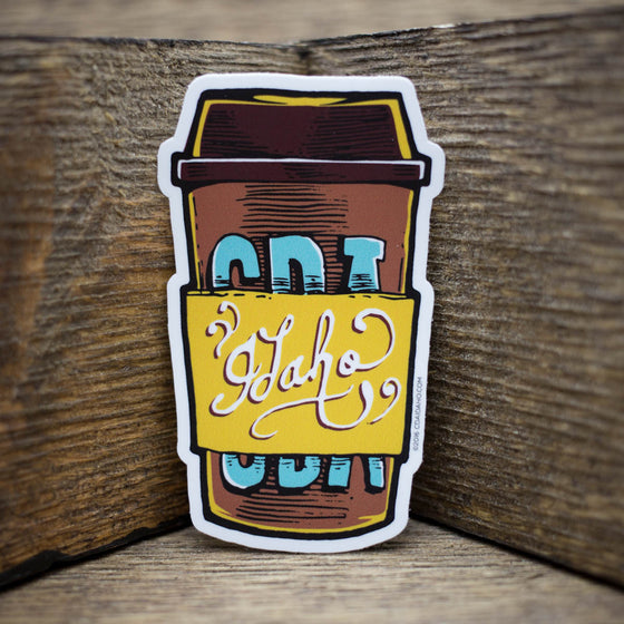 CDA Idaho Coffee To Go Sticker