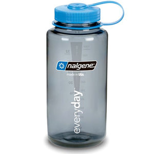 Nalgene 32oz W/M, Gray w/ Blue Cap