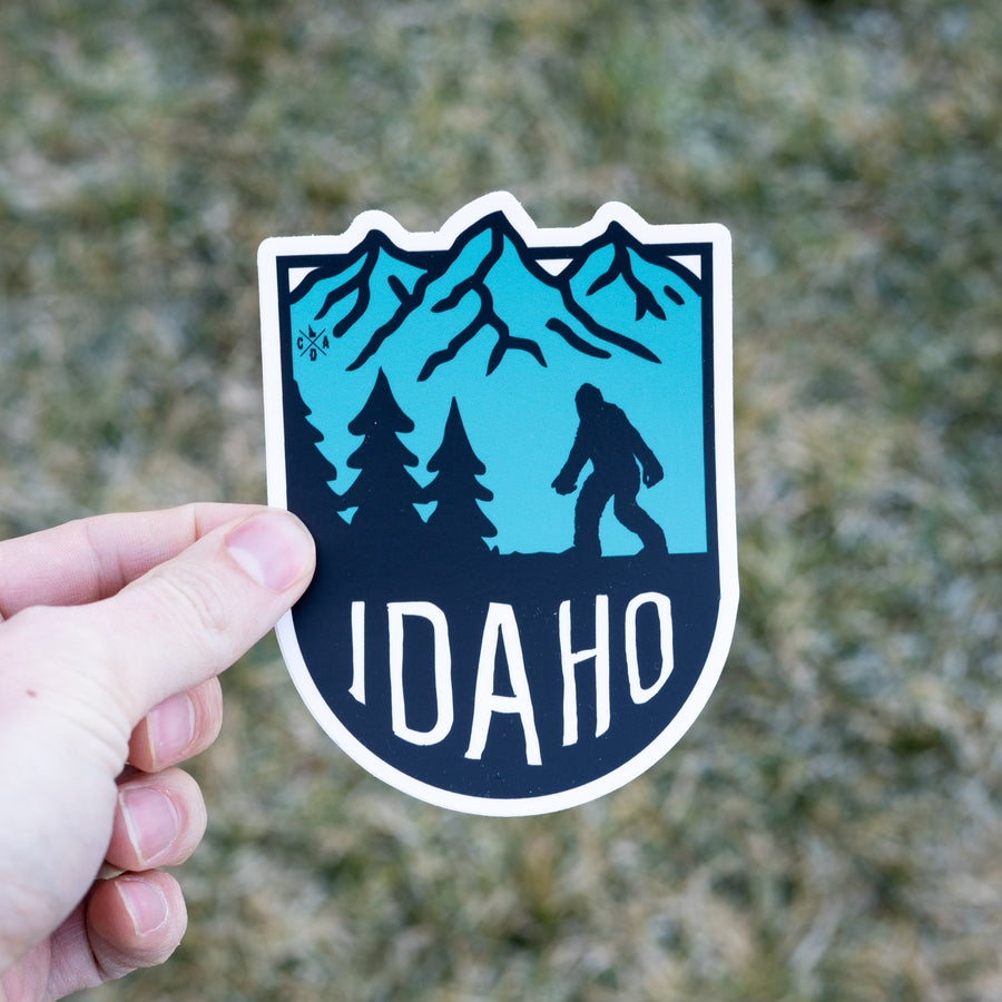 Bigfoot Idaho Mountains Sticker