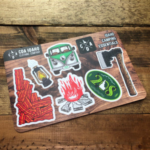 Idaho Camping Essentials Sticker Sheet