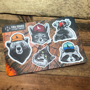 Idaho Critters Sticker Sheet